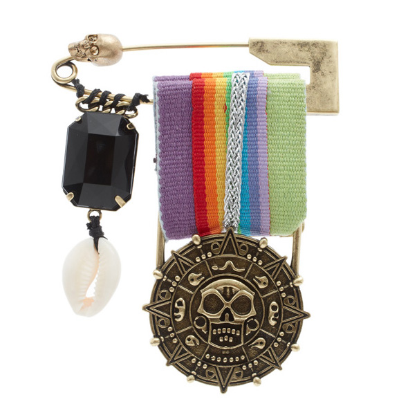 Disney Couture™ Pirates of the Caribbean Rainbow Military Brooch