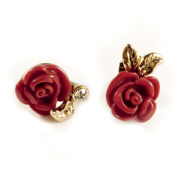 Disney Couture™ Snow White Red Rose Post Earrings