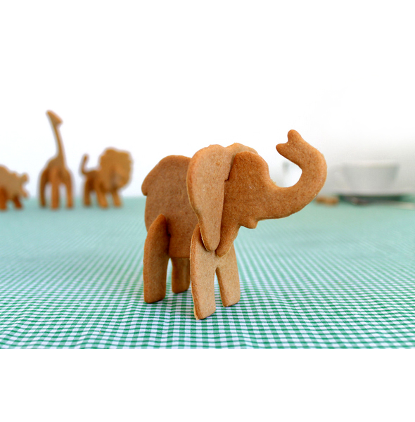 3D Safari Animals Cookie Cutters (Elephant)