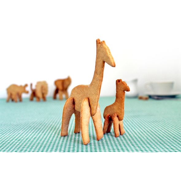 3D Safari Animals Cookie Cutters (Giraffe)