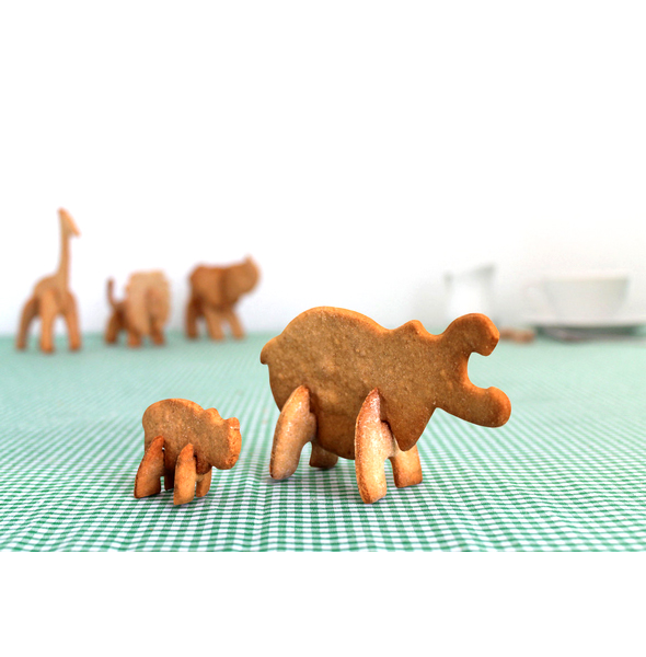 3D Safari Animals Cookie Cutters (Hippo)