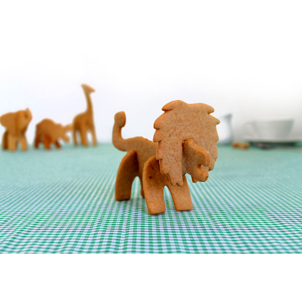 3D Safari Animals Cookie Cutters (Lion)