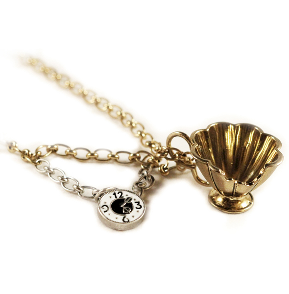 Disney Couture™ Alice In Wonderland Mad Hatter Teacup Necklace