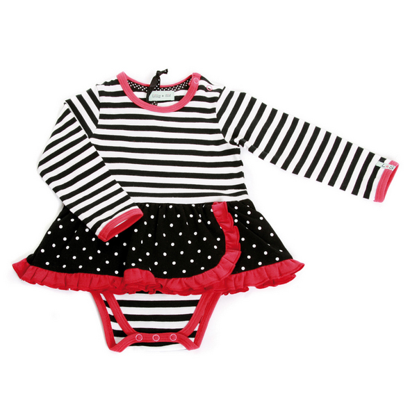 Lilly + Sid™ Black/White Polka Dot Baby Dress