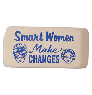 Smart Women™ Make Changes Eraser - Blue