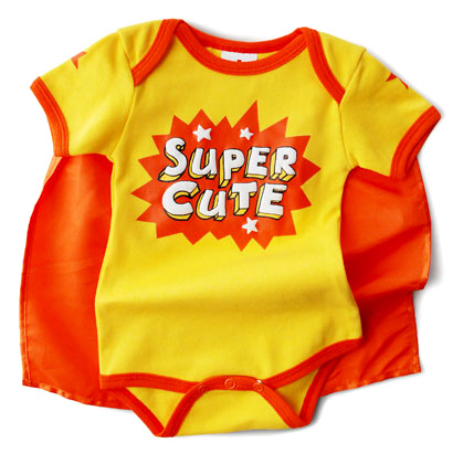 Super Cute Super Snapsuit w/Cape